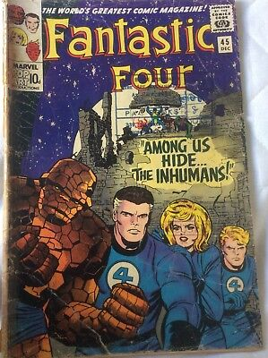 Fantastic Four #45  1st App of the Inhumans  1965 Silver Age