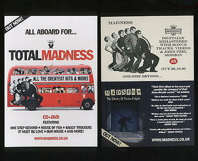 Madness - One Step Beyond / Total / Norton Folgate - Double Sided Card Flyer