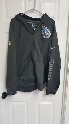 1881fa06bba0 NFL TENNESSEE TITANS 1 2 Zip Nike Jersey Pullover Navy Blue Youth Xl ...