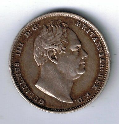 1831 William IV sterling silver sixpence 6d coin - 2.8g
