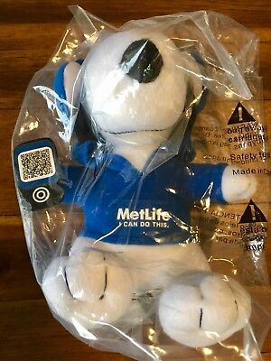 "Peanuts Metlife 6"" Plush Snoopy Doll w/ iPhone & Head Phones Free Shipping!"
