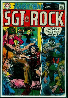 DC Comics Our ARMY At WAR #206 SGT ROCK VG 4.0