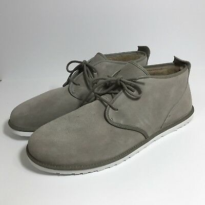 7e2a3dd85a9 Ugg Australia Maksim Chukka Men's Boot 17 Brindle Gray Suede Wool Lined  Shoes
