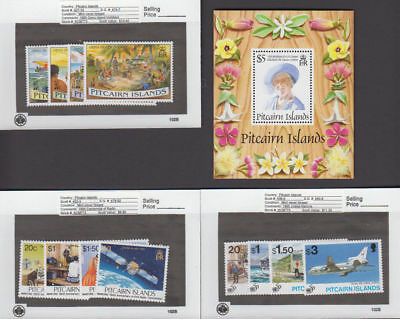 Pitcairn Is. - 1995 Commemorative Sets & S/S. Sc. #427-39. SG #474-486. Mint NH