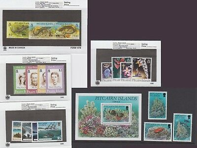 Pitcairn Is. - 1994 Commemorative Sets & S/S. Sc. #396-414. SG #442-461. Mint NH