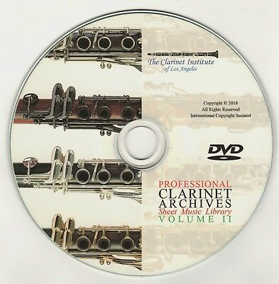 PROFESSIONAL CLARINET SHEET MUSIC ARCHIVE- DVD PDF - Volume 2
