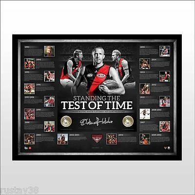 Dustin Fletcher Essendon Bombers Hand Signed Framed The 400 Club Limited Print