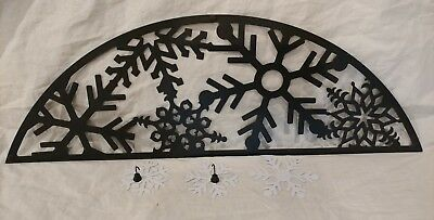 Partylite Couture Hearthside 5 Pillar Candle Holder snowflake Season Panel