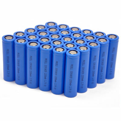 Wholesale 130 x 2200mAh 18650 High Drain 5C Li-ion Rechargeable Battery Flat top