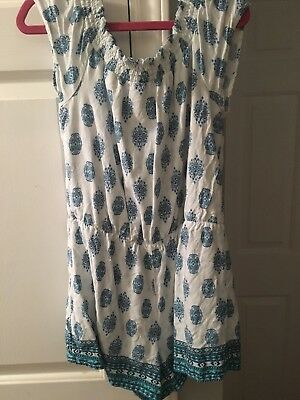 Justice White And Blue Romper (Size 14)