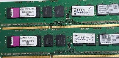 LOT of 2 x 4GB PC3-10600E Kingston ECC DDR3  KVR1333D3E9S/4G double-sided MEMORY