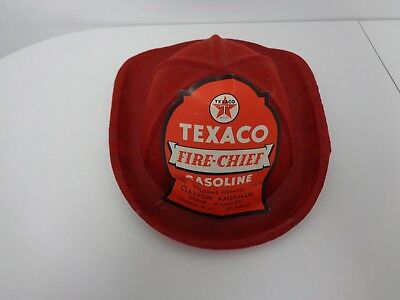 Texaco Oil Company Paper Fiber Fire Chief Childs Hat Advertising Plymouth Dodge