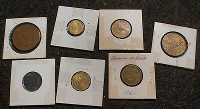 Paraguay - Peru Collection of 7 coins