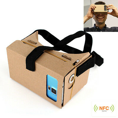 Black Head Mount For Google Cardboard Virtual Reality 3D Glasses Head_Strap!