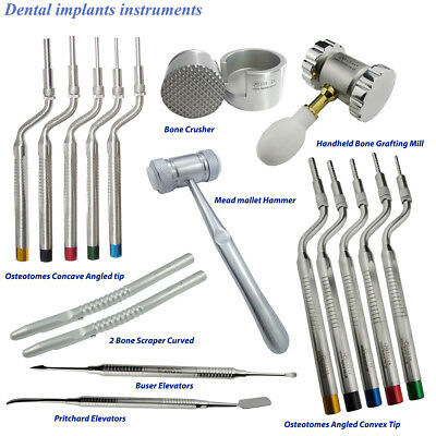 Sinus Lift Offset Concave & Convex Angled Tip Osteotomes Dental Surgical Implant