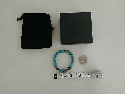 0e431eaf1165 NEW 100% Authentic chrome hearts Womens Sterling silver bead turquoise