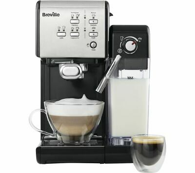 BREVILLE One-Touch VCF107 Coffee Machine - Black & Chrome - Currys