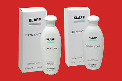 KLAPP Clean Active CLEANSING LOTION und TONIC WITHOUT ALCOHOL ohne Alkohol