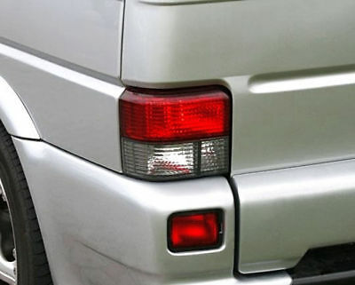 VW T4 Bus Transporter Multivan 90-03 Crystal Red White Tail Lights Rear Lamp 2pc