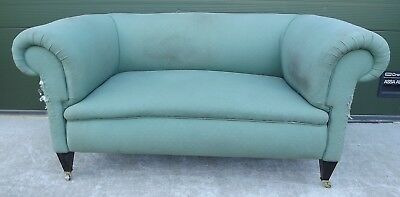 Antique Edwardian Chesterfield Sofa Settee - Needs Re-Upholstery
