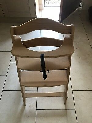 Wooden A Frame Highchair Adjustable Child High Chair
