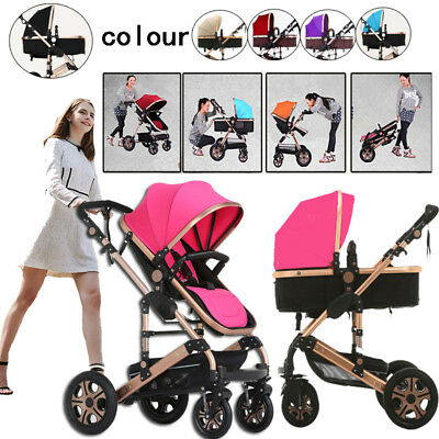 9 in1 Baby Toddler Stroller Newborn High View Pram & Bassinet Folding Carriage