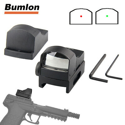 Mini Holographic Red Green Dot Sight Reflex Scope with On/off Switch for Airsoft