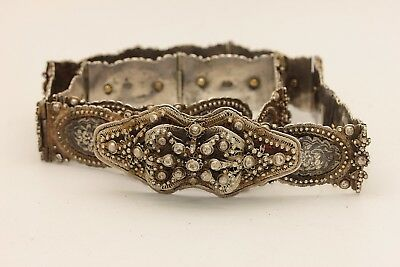 Antique Original Silver Niello Decorated  Armenian Ottoman Amazing Belt