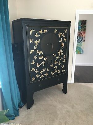 Beautiful Oriental Lacquered Wedding Cabinet