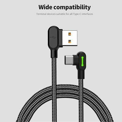 MCDODO Right Angle 90° Type C Cable USB 3.0 to USB C 3.1 Fast Charger Data Cable