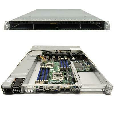 Supermicro CSE-815 1U Rack Server Mainboard X8DTU-F LGA 1366 2x CPU Kühler