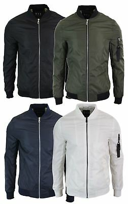 Mens MA1 Slim Fit Bomber Jacket Light Summer Autumn Jacket Army Pilot Flying