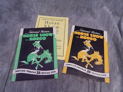 1933 and 1936 National Western Horse Show & RODEO programs with Inerts