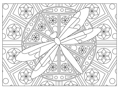GIANT COLORING POSTER - Dragonfly (32