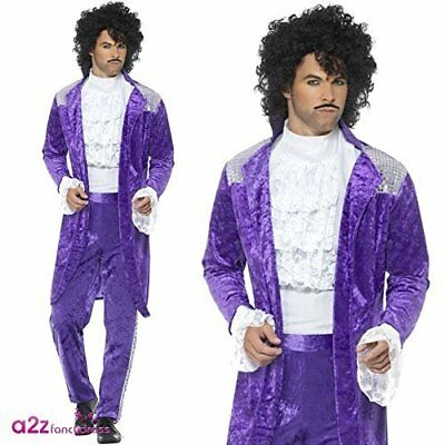 80s Purple Musician Costume Purple with Jacket Mock S (UK IMPORT)  sc 1 st  PicClick & 80S PROM KING Costume Blue with Jacket Trousers and Mock Tuxedo ...