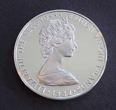 British Virgin Islands 1982 One Dollar Silver Brilliant Frosted Proof, KM# 6a