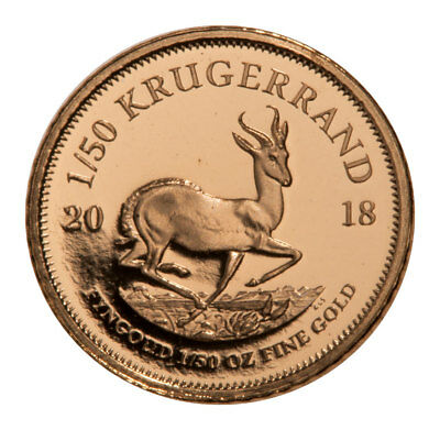 2018 South Africa 1/50 oz. Gold Krugerrand Proof Coin GEM Proof SKU52839