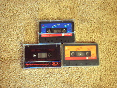 Lot of 2 Vintage Demonstration Cassette Tapes Ford and Toshiba