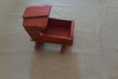 wooden small doll cradle