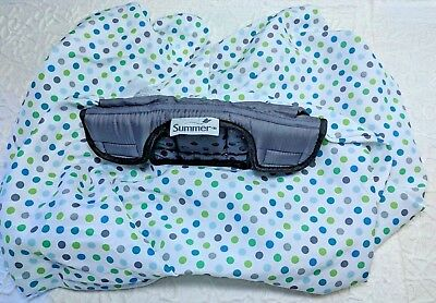 SUMMER 2 IN 1 Carry And Cover INFANT CAR SEAT COVER Pattern White