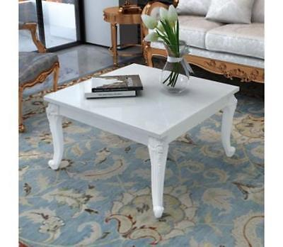 White Shabby Chic Coffee Table High Gloss Vintage Style