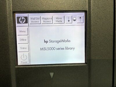 HP StorageWorks MSL5000 Library fully working. 2 tape drives