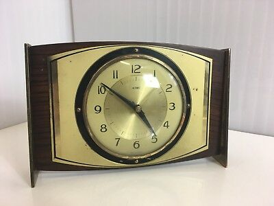 Vintage Metamec Mantle Clock Retro Battery Working brass