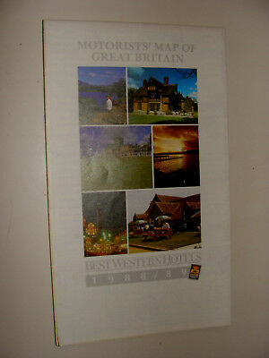 Motorist's Map Map of Great Britain 1988 - 1899 Best Western Hotels