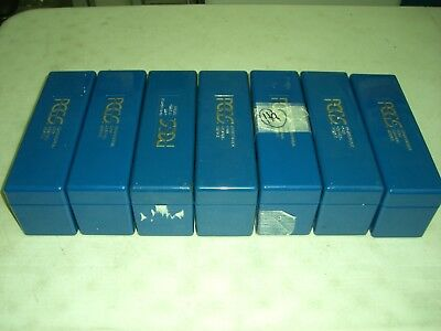 Lot Of 7 (Seven) Used Pcgs Blue Plastic Coin Storage Boxes! Holds 20 Slabs Each