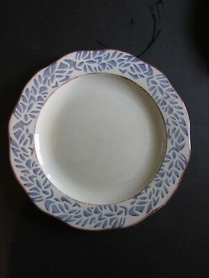 Lot of 4 Pier 1 One Ondo Blue Made in ITALY Tuscan Country Style Dinner Plates & ONE DINNER PLATE Tuscan Country by PTS Interiors Very Little Wear ...