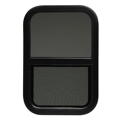 """ToughGrade Vertical Black RV window 14"""" X 18"""" X 1 1/2"""" with Trim and Screen."""