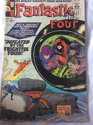 FANTASTIC FOUR # 38  FRIGHTFUL FOUR, MAY 1965 Silver Age Medusa Appearance