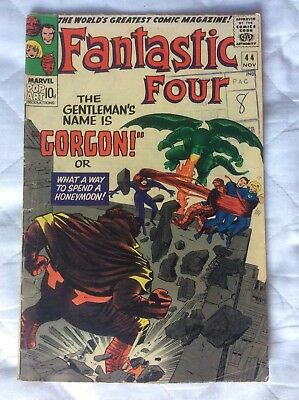 Fantastic Four #44 Silver Age, 1965 , 1st Appearance of GORGON of the Inhumans