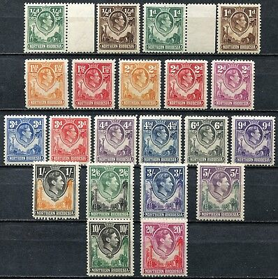 Northern Rhodesia 1938 issue, SG 25 - 45, Mint Hinged, Cat £250